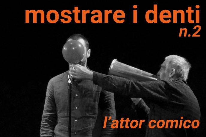 """copertina di www.novantatrepercento n.21 """"mostrare i denti"""" - n.2, in foto Enrico Castellani e Eugenio Sanna in """"Tempi di Reazione"""" 2018, SPAM! foto di R. Castello"""