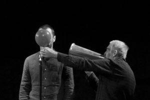 """Enrico Castellani e Eugenio Sanna in """"Tempi di Reazione"""" 2018, SPAM! - ph R. Castello"""